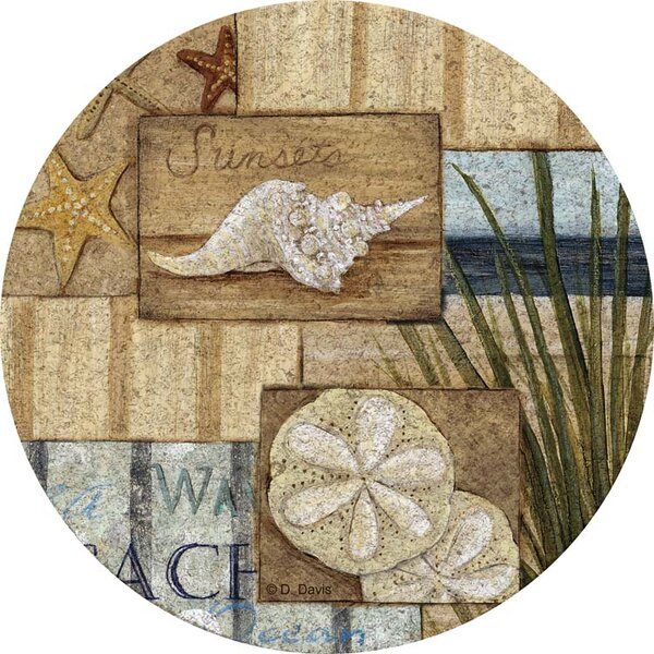 At the Beach II Cork Trivet by Thirstystone