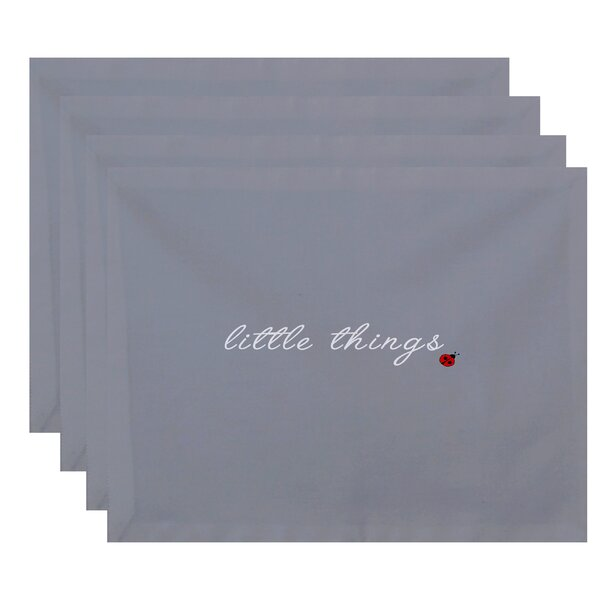 St. Elias Little Things Print Placemat (Set of 4) by Red Barrel Studio