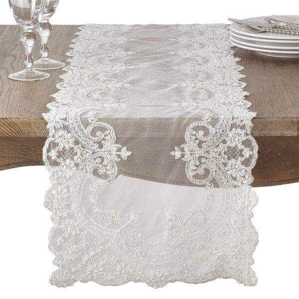 Winston Beaded Trim Holiday Table Runner by Red Barrel Studio