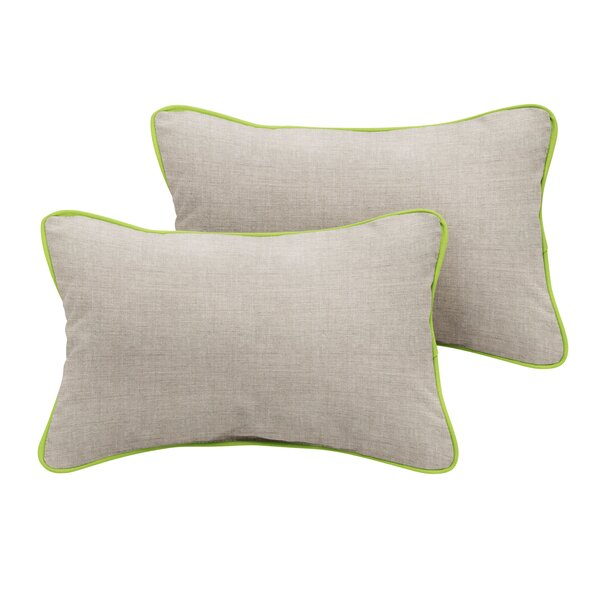 Curley Sunbrella Cast Outdoor Lumbar Pillow (Set of 2) by Red Barrel Studio