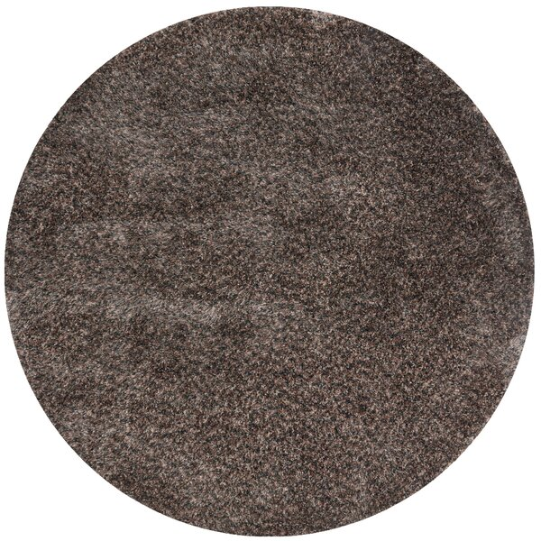 Hackel Hand-Tufted Dark Brown Area Rug by Red Barrel Studio