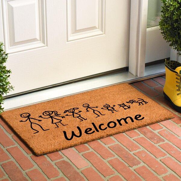 Krumm Stick Family Doormat by Winston Porter