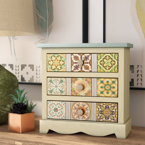 Oua-Oue 3 Drawer Jewelry Box by Bungalow Rose