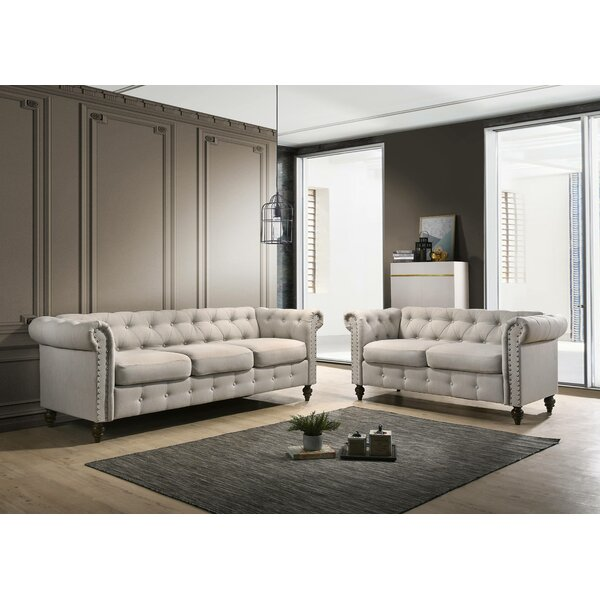 Sequoia Tufted 2 Piece Living Room Set by Canora Grey