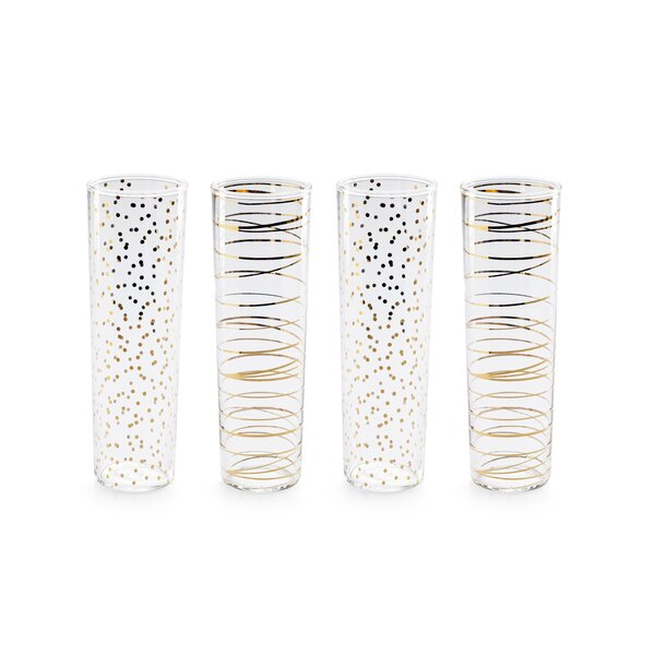 Luxe Modern Champagne Flute (Set of 4) by Rosanna