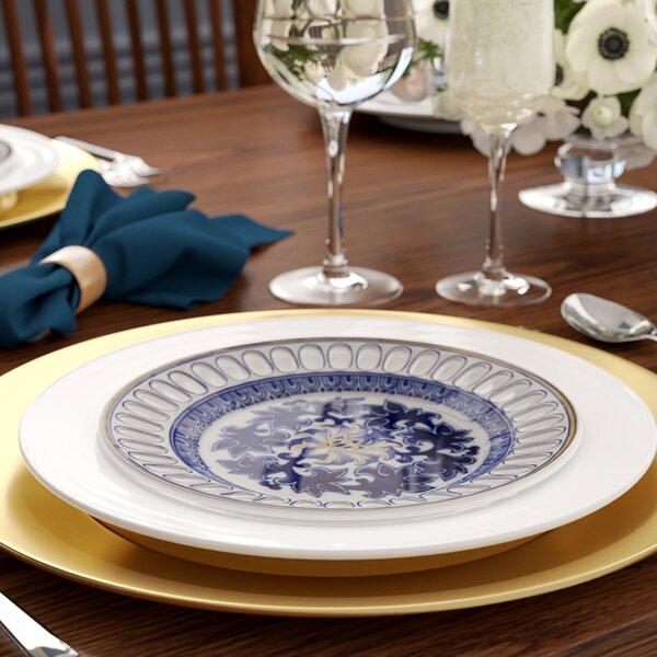Legendre Porcelain Food Serving Decorative Plate by Three Posts