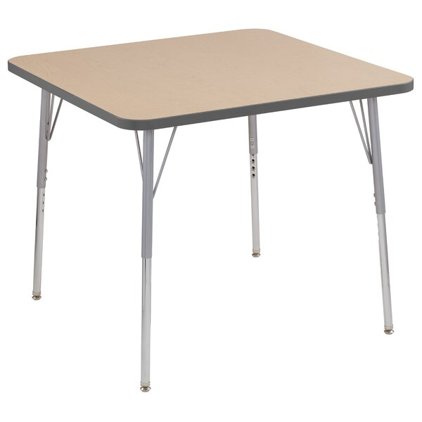 Maple Contour Thermo-Fused Adjustable 36 Square Activity Table by ECR4kids