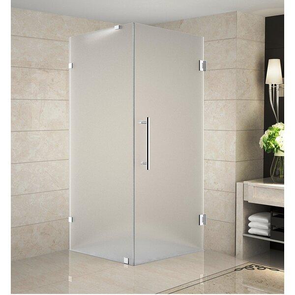 Aquadica 34 x 72 Hinged Frameless Shower Door by Aston