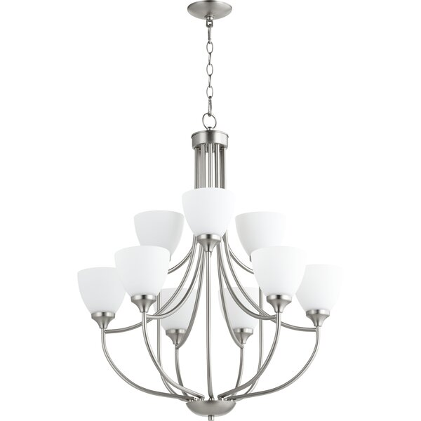 Rhea 9 - Light Shaded Empire Chandelier By Andover Mills