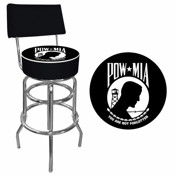 POW 31 Swivel Bar Stool by Trademark Global