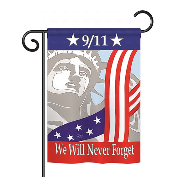 9/11 2-Sided Vertical Flag by Breeze Decor