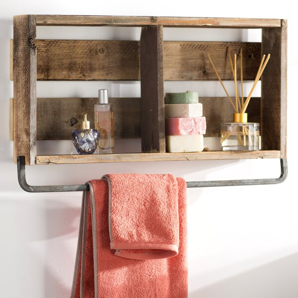 Natashia Barnwood Plank Wall Shelf by Mistana