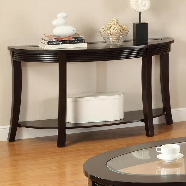 Gardella Glass Console Table by Ebern Designs