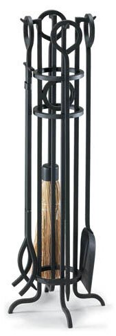 Arts and Crafts 5 Piece Iron Fireplace Tool Set by Pilgrim Hearth