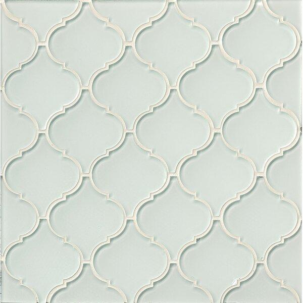 La Palma Glass Mosaic Tile in Glossy White by Grayson Martin