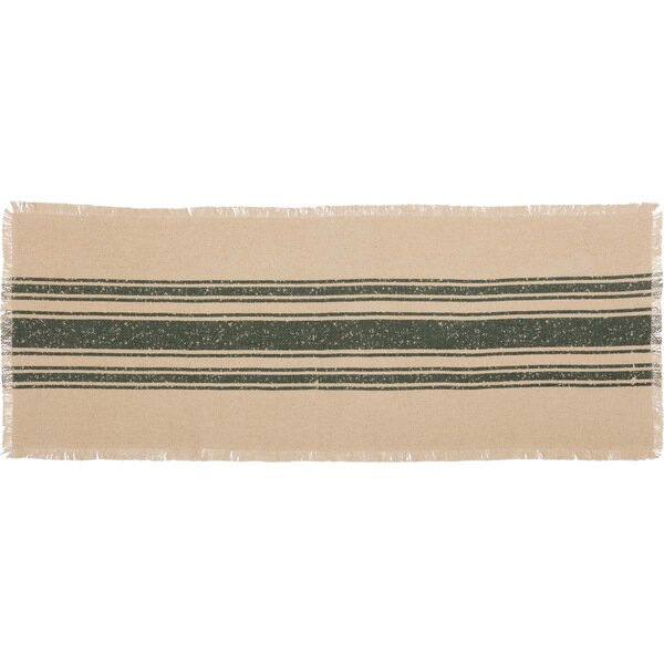 Lesko Burlap Stripe Runner by Gracie Oaks
