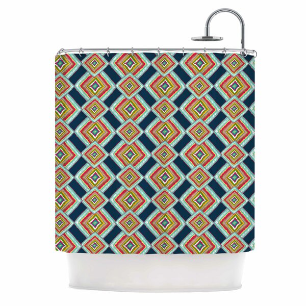 Rainbow Ikat by Amy Reber Abstract Shower Curtain by East Urban Home