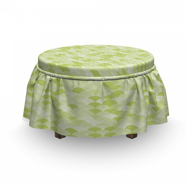 Hand Drawn Wave Ottoman Slipcover (Set Of 2) By East Urban Home