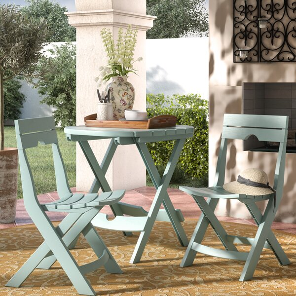 Quebec 3 Piece Bistro Set by Andover Mills