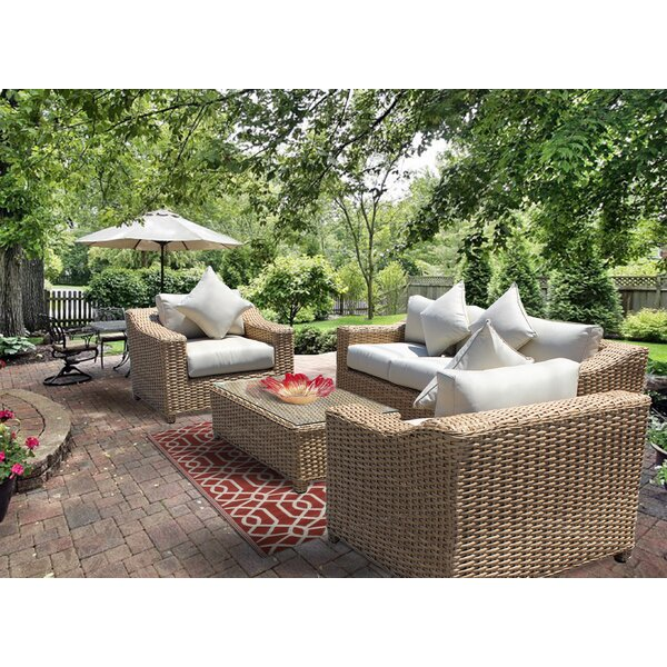 Chatham 4 Piece Sofa Seating Group With Cushion by Bayou Breeze