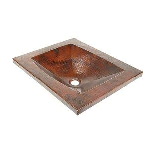 Affordable Price Copper Bathroom Sinks Metal Rectangular Undermount Bathroom Sink By D'Vontz