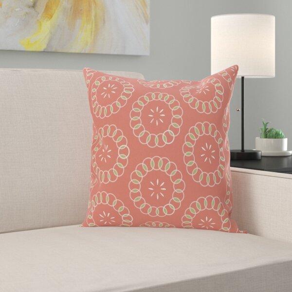 Wintergreen Floral Print Outdoor Pillow by Latitude Run
