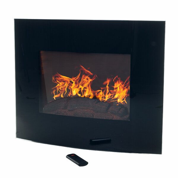 Bartow Curved Wall Mounted Electric Fireplace by Ebern Designs Ebern Designs