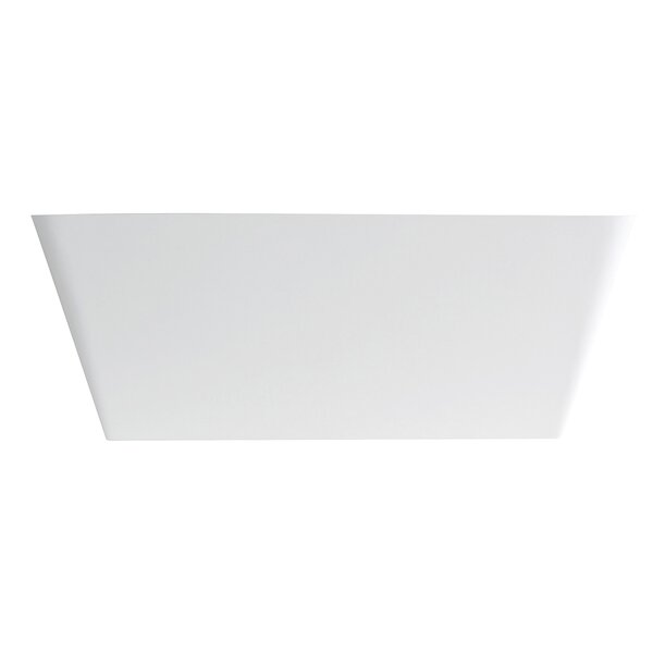 Aqua Eden Lydia Solid Surface 59.06 x 26.75 Freestanding Soaking Bathtub by Kingston Brass