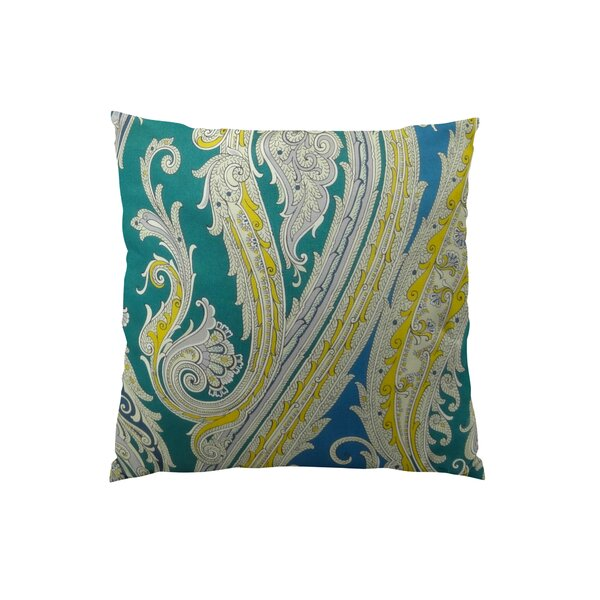 Fun Paisley Throw Pillow by Plutus Brands