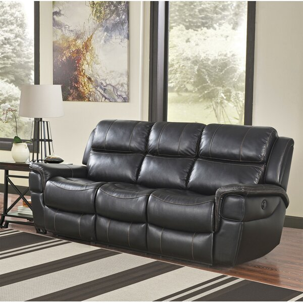 Our Special Twomey Leather Reclining Sofa by Red Barrel Studio by Red Barrel Studio