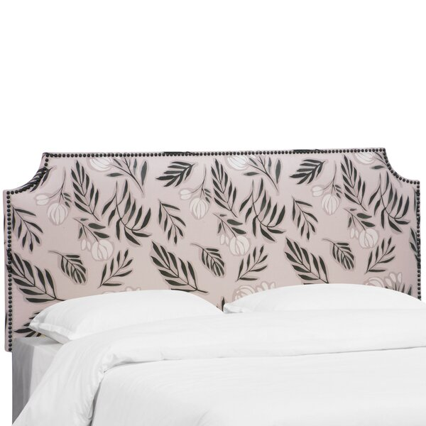 Alasdair Notched Nail Button Debris Floral Upholstered Panel Headboard By Bloomsbury Market by Bloomsbury Market