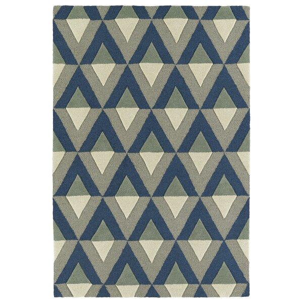Serpens Handmade Blue Area Rug by Wrought Studio