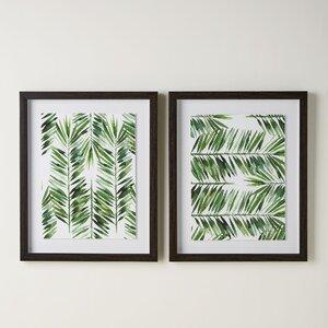 Palm Pattern Shadow Boxes (Set of 2) by Birch Lane™