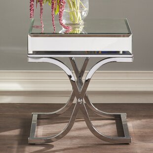 Kiril Mirrored End Table Willa Arlo Interiors Discount