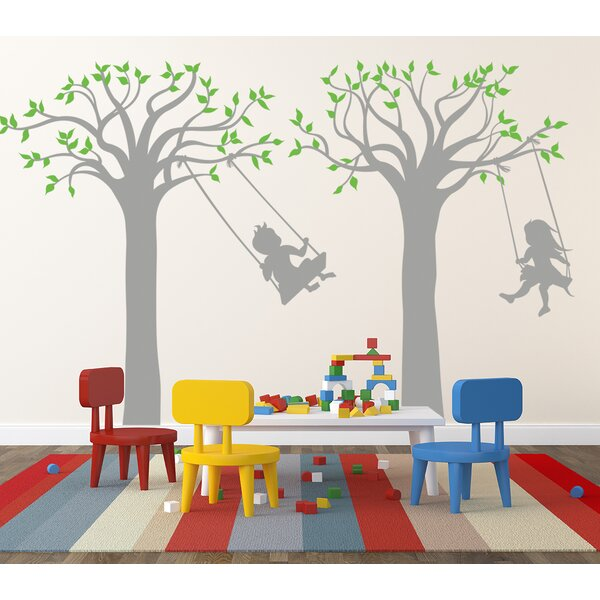 Children Play Swing Wall Decal by Pop Decors