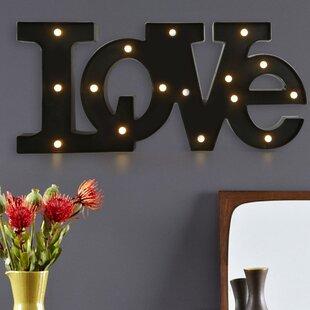 led love letter wall decor