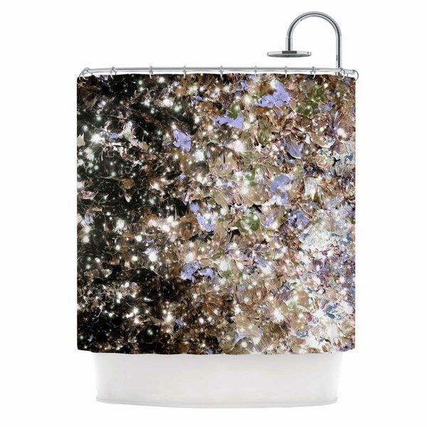 Ebi Emporium Cocoa Nebula Shower Curtain by East Urban Home