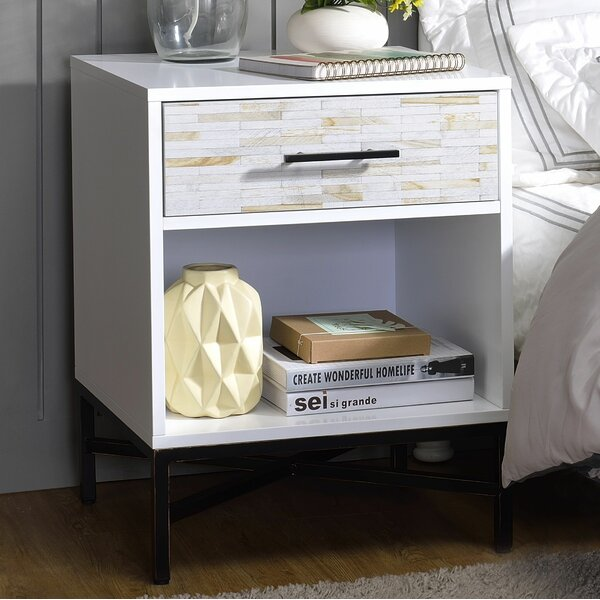 Rosevale 1 Drawer Nightstand by Brayden Studio