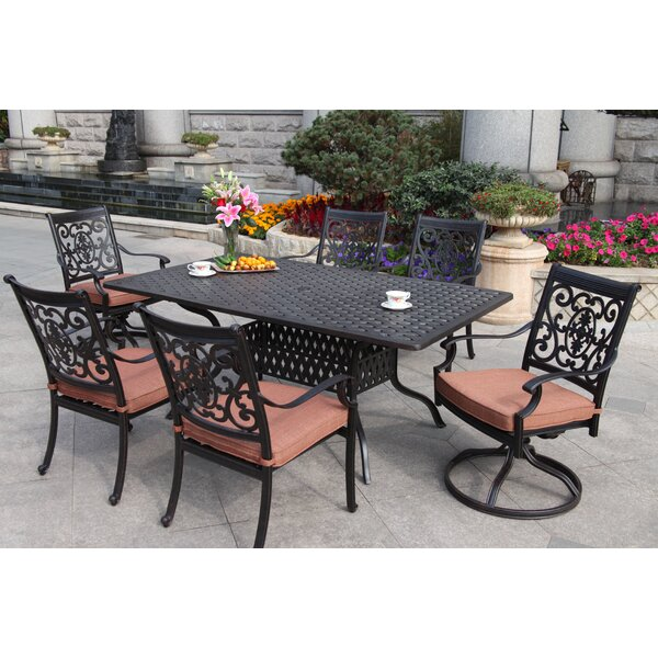 Mccraney Contemporary 7 Piece Dining Set with Cushions by Astoria Grand