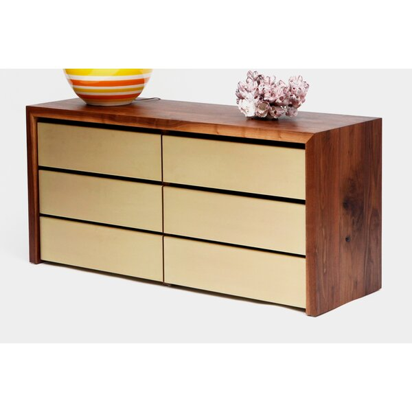 Sqm 6 Drawer Double Dresser by ARTLESS