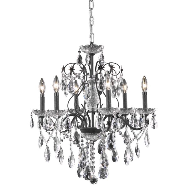 Thao 6 - Light Candle Style Classic / Traditional Chandelier By Rosdorf Park