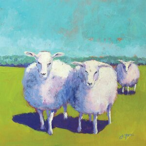 'Sheep Pals I' Painting Print on Canvas by East Urban Home