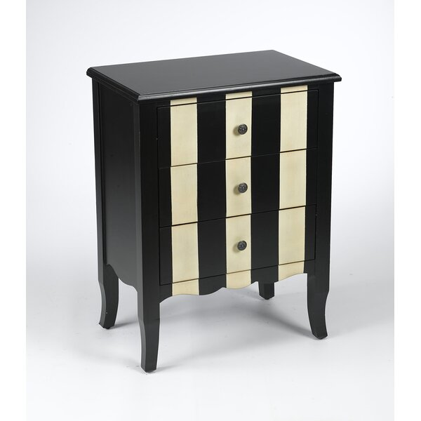 3 Drawer Striped Chest by AA Importing