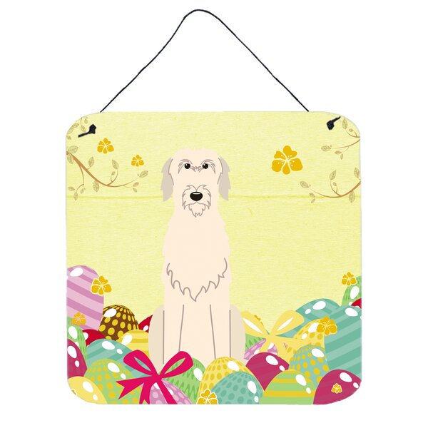 Easter Eggs Irish Wolfhound Wall Décor by The Holiday Aisle
