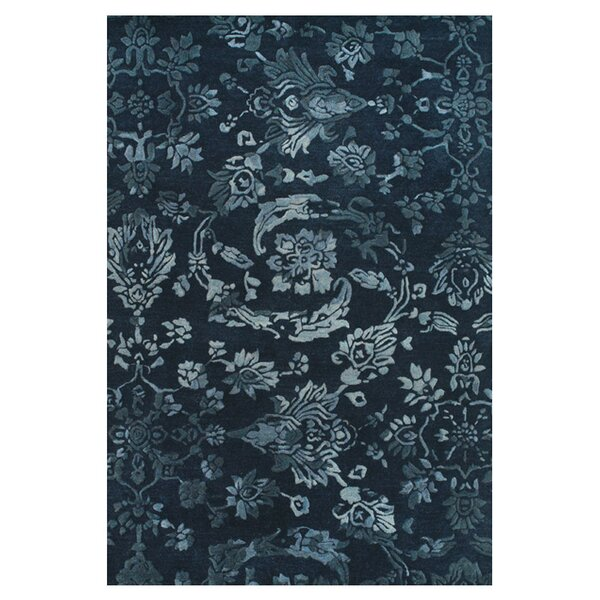 Southampton Tufted Wool Navy Area Rug by Darby Home Co