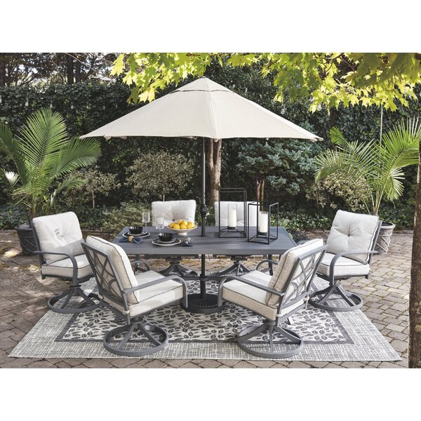 Anguiano 4-Piece Bar Height Dining Set with Cushions by Canora Grey