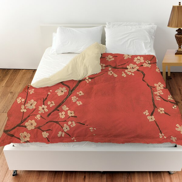 Golden Cherry Blossom Duvet Cover by Manual Woodworkers & Weavers