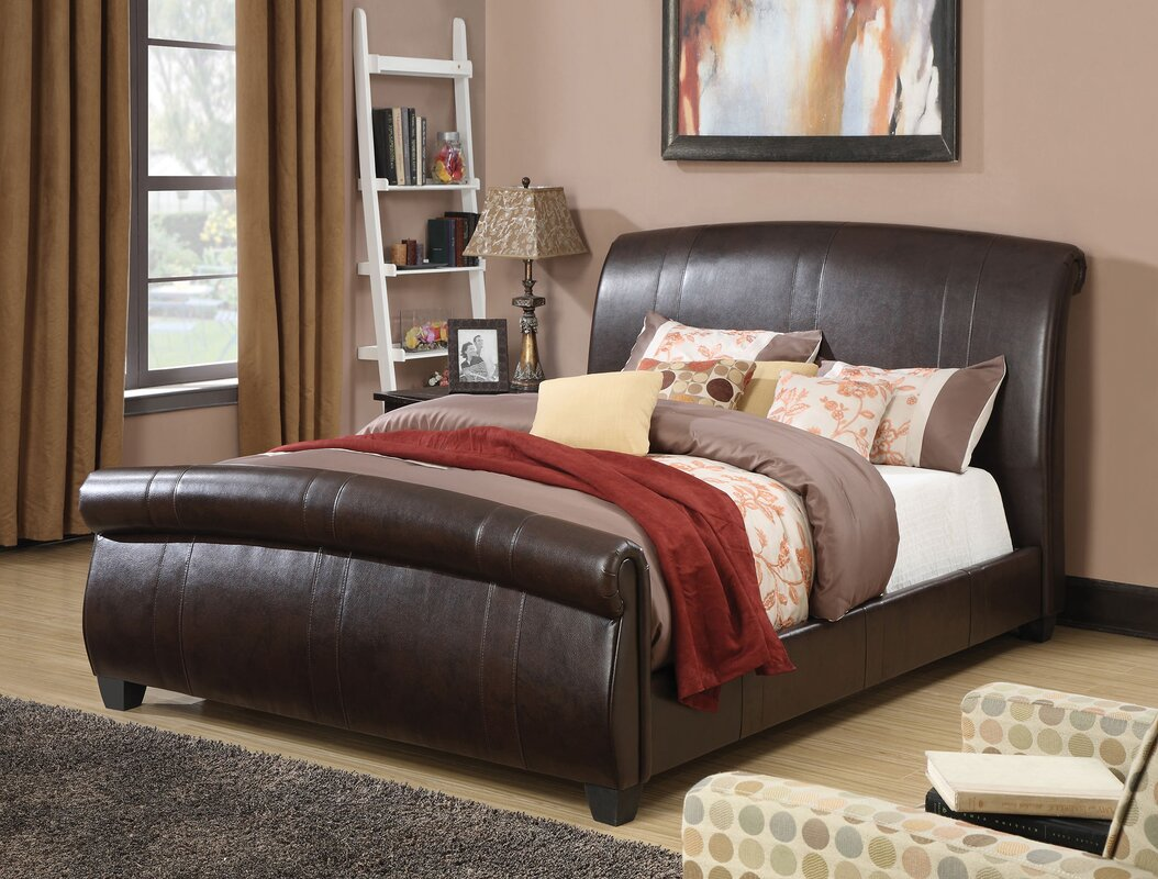 acme furniture hammett upholstery sleigh bed