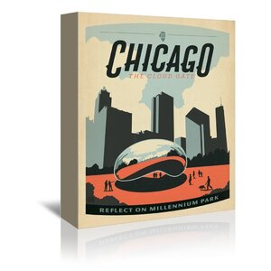 Chicago Millennium Park Vintage Advertisement on Wrapped Canvas by East Urban Home