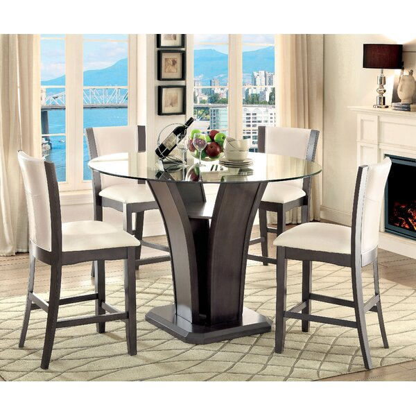 Amazing Leets 5 Piece Pub Table Set By Latitude Run Great Reviews